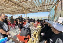 صورة حوزة العلامة الحلي العلمية تتفقد الهيئات والمواكب في الچبايش والحَمّار ضمن برامجها التبليغية في الأربعين الحسيني