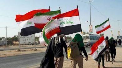 """صورة شرطة خانقين تمنع مسيرة زائرين إيرانيين دخلوا العراق عبر منفذ """"برويز خان"""" في السليمانية"""