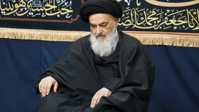 صورة بيت المرجع الشيرازي يُفجع بذكرى استشهاد السيدة رقية بنت الحسين (عليهما السلام)