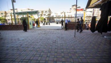 صورة تأهيل طريق خدمي للزائرين بالقرب من مرقد أبي الفضل العبّاس عليه السلام