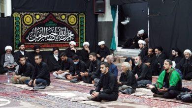 صورة إحياء ذكرى استشهاد الإمام الرضا عليه السلام ببيت المرجع الشيرازي في مدينة قم المقدسة