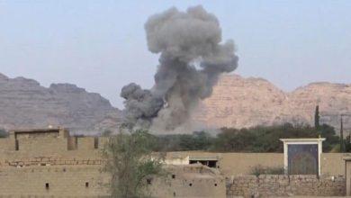 صورة شهيدان و5 جرحى بقصف سعودي على مناطق حدودية في اليمن
