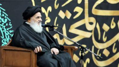 صورة المرجع الشيرازي: نصرة الإمام الحسين (عليه السلام) واجبة والويل لمن يضع العراقيل أمام قدوم الزائرين