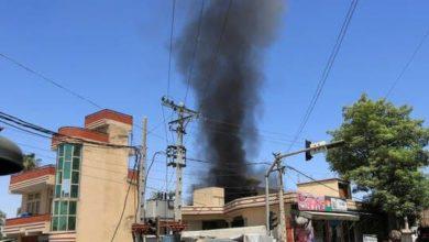 صورة انفجار في مدينة جلال آباد شرقي أفغانستان