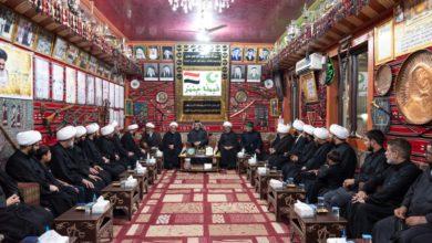 صورة وفد ممثّل عن المرجعية الشيرازية يزور شيخ عشائر الحمير في العراق