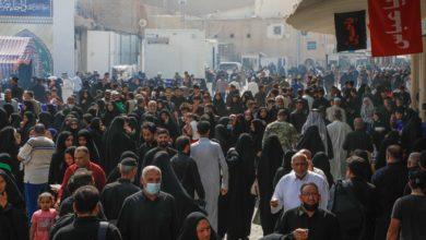 صورة انطلاق مسيرة للمشّاية صوب سامراء لإحياء فاجعة استشهاد الإمام العسكري (عليه السلام)