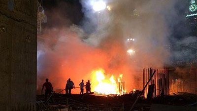 Photo of Fire at Grand Mosque in Mecca leaves 14 injured