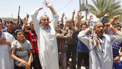 Photo of Turkmen Shias flee to Holy Najaf escaping ISIL onslaught