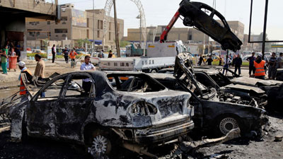 Photo of 8 martyred in Iraq car bombings mostly in Shia neighbourhoods