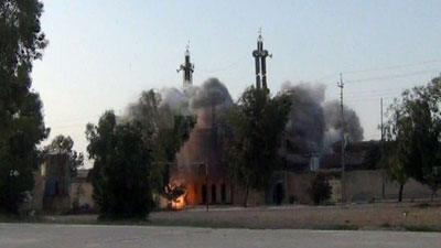 Photo of 4 Shia mosques blown up by ISIL in Nineveh