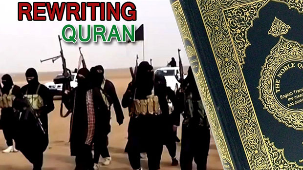 Photo of ISIL seeking to alter the holy Quran!