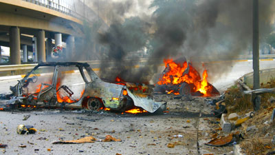 Photo of Two car bombs explode in eastern Karbala