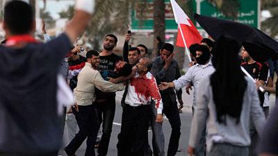 Photo of Bahrain regime forces brutalize protesters