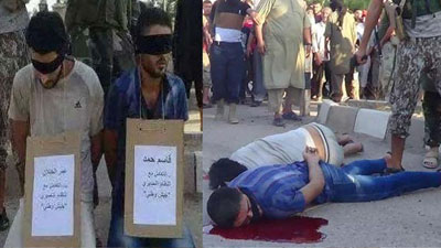 Photo of ISIS terrorists execute engineering students in Syria