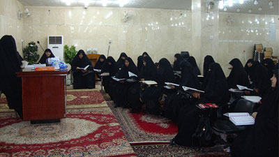 """Photo of Forum in Holy Najaf to discuss """"Role of Hussaini Woman in Mahdawi uprising"""" (Holy Najaf- Iraq)"""