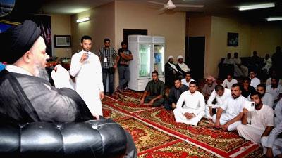 Photo of Son of Grand Ayatollah Shirazi hosted by many Hajj caravans