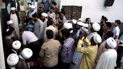 Photo of Believers congratulate Grand Ayatollah Sayed Shirazi on the occasion of Eid al-Adha