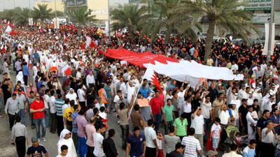 Photo of Bahrainis rally on protester's death anniversary