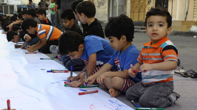 250 children in Bahrain participate in drawing board about Imam Hussain