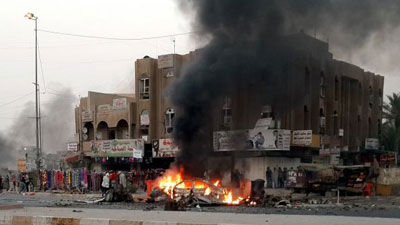 Photo of At least 24 martyred in Baghdad bomb blasts