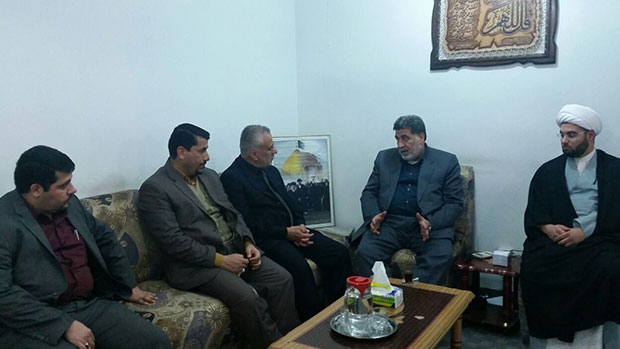 Photo of Grand Ayatollah Sayed Shirazi's office receives religious, political and security figures from Najaf and Karbala
