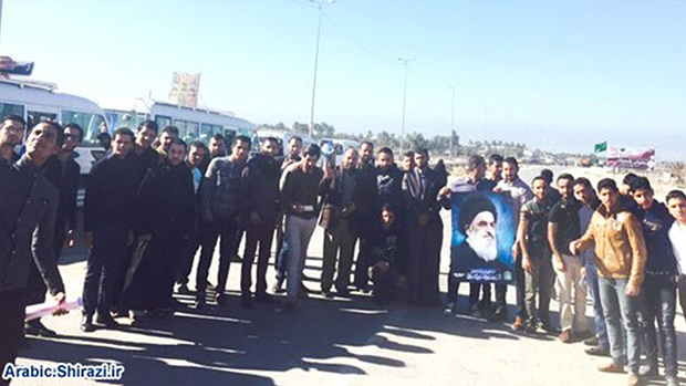 Photo of Shirazi office in Baghdad, accompanied by university students, visit Shirazi institutions in Holy Karbala