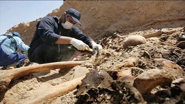 Photo of Mass grave of Iraqi soldiers found south of Tikrit