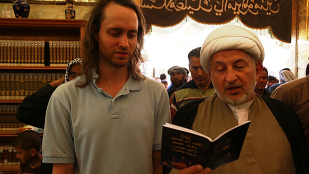 Photo of An American convert to Shia Islam visited the Imam Ali Holy Shrine