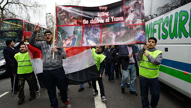 Photo of Hands off Yemen is theme of protest and rally held in London