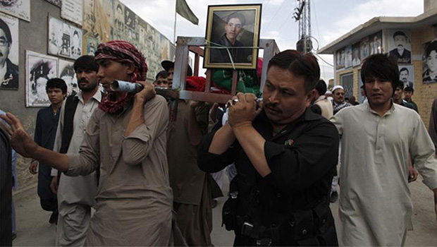 Photo of Bodies of two kidnapped Shia Afghans recovered