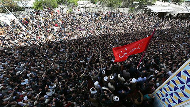 Photo of Raising banner of Imam Hussein In northern Pakistan