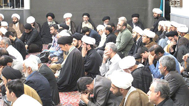 Photo of Mourning ceremonies held in the house of the Grand Ayatollah Sayed Shirazi, may Allah prolong his life