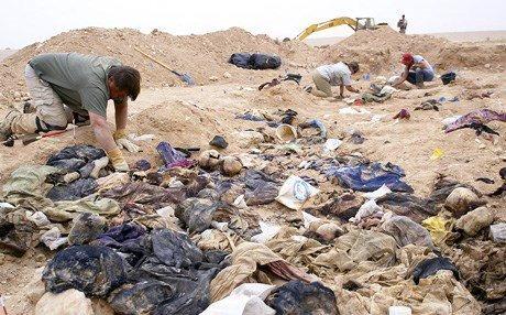 Photo of Saddam-era mass grave found