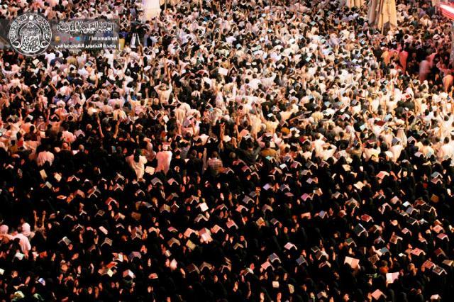 Photo of Hundreds of thousands of pilgrims mark the Night of Destiny inside the holy shrine of Imam Ali, peace be upon him