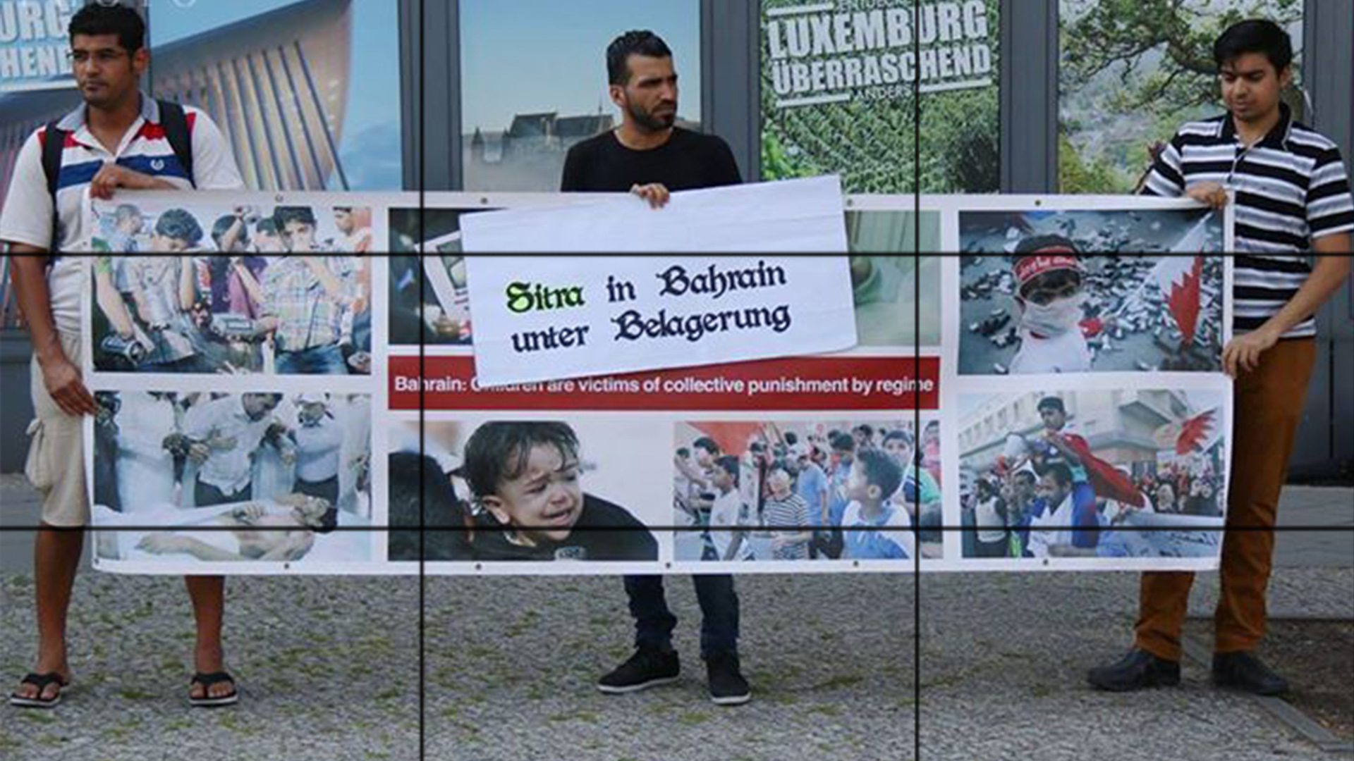 Photo of A sit-in in Berlin against Bahrain's atrocities on its people