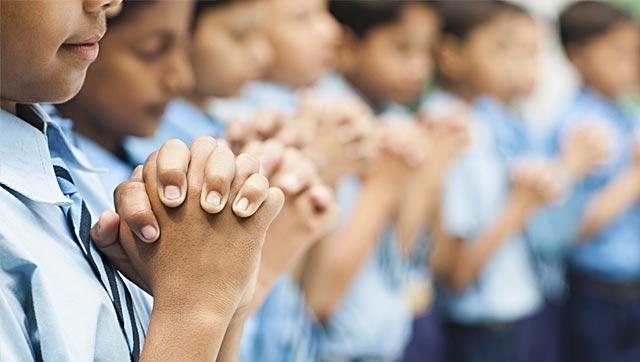 Photo of Muslim kid punished for not reciting Hindu prayer