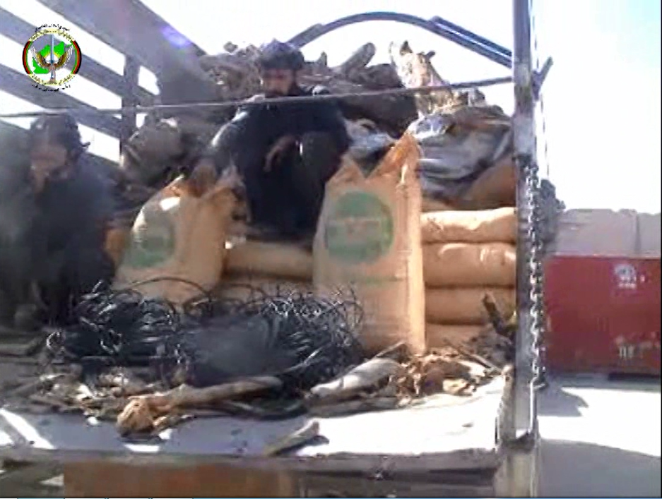 Photo of Truck full of explosives seized in Paktika and two suspects detained