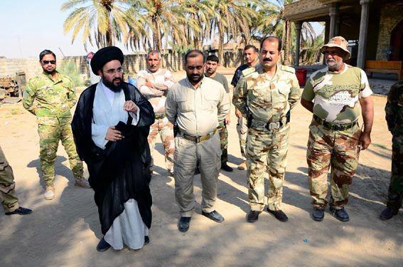 Photo of Representative of Grand Ayatollah Shirazi visits Ansar al-Hussein Forces in Fallujah