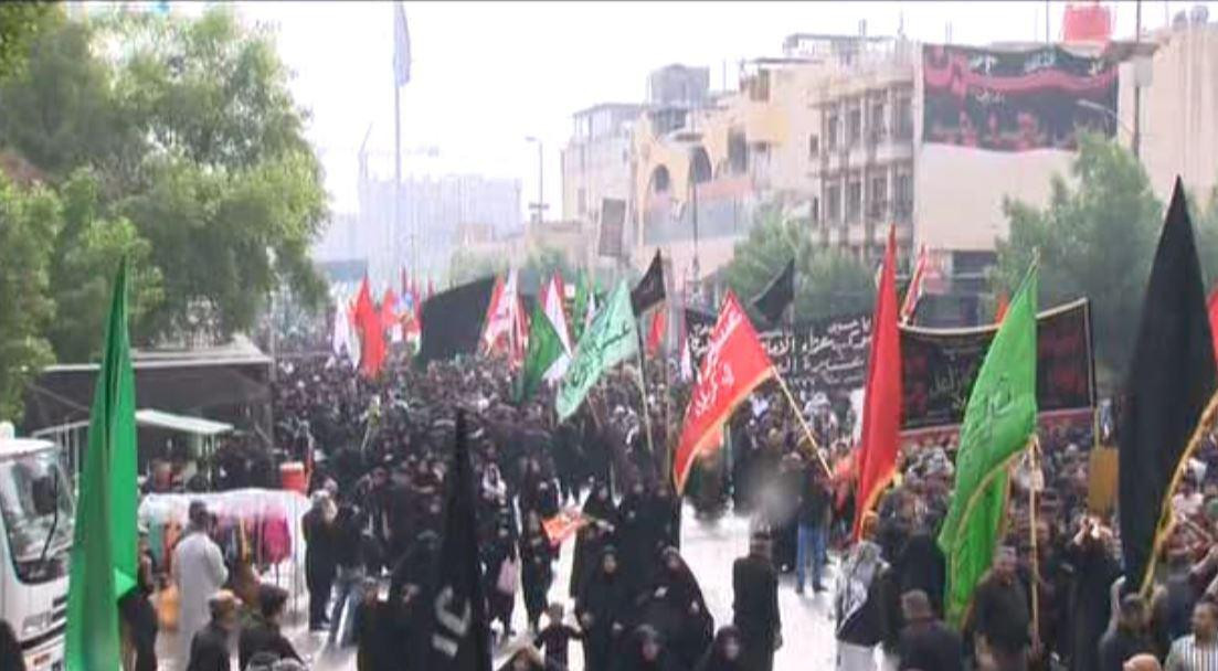 Photo of Bani Asad tribe participated in symbolic funeral of Imam Hussein, peace be upon him