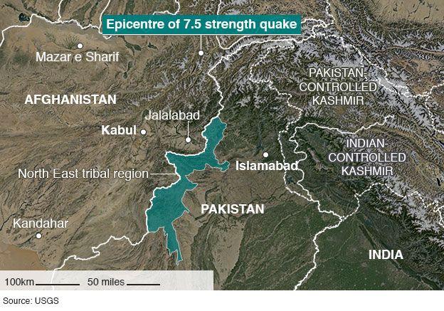 Photo of Afghanistan-Pakistan earthquake leaves hundreds dead