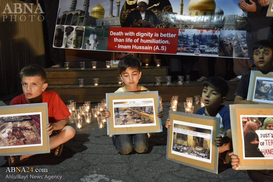 Photo of Candlelight vigil in solidarity with Shia martyrs of Nigeria & Pakistan held in Melbourne
