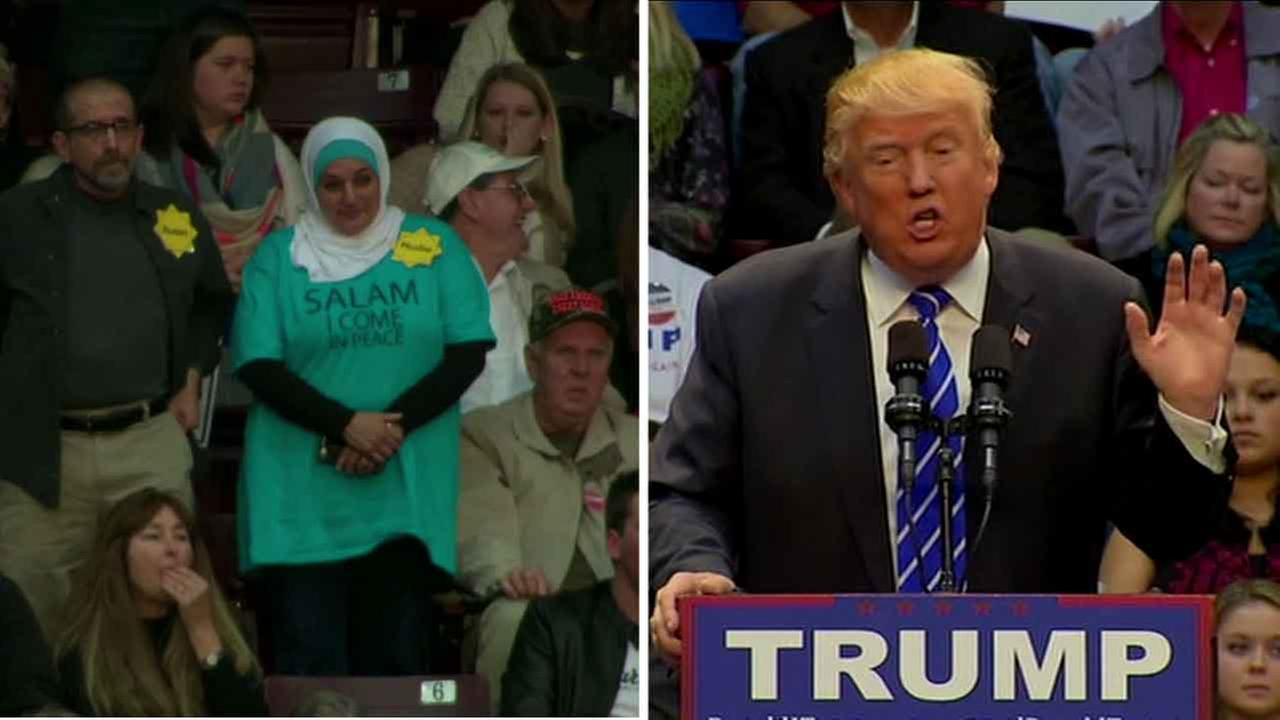 Photo of Muslim woman gets kicked out of Trump rally for protesting silently