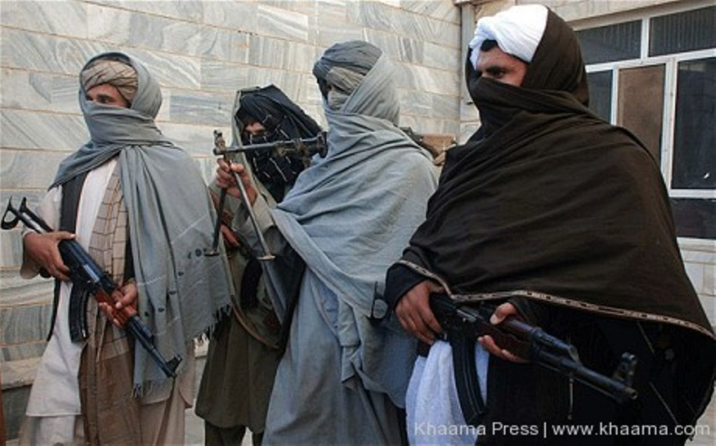 Photo of Afghan terrorists surrender in northern town of Darqad
