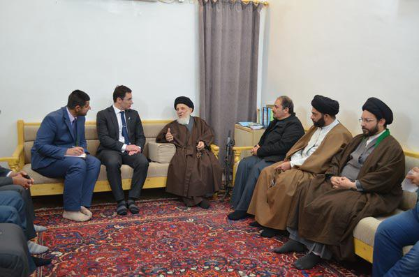 Photo of The Ambassador of New Zealand meets Ayatollah Sayed Saeed Hakeem