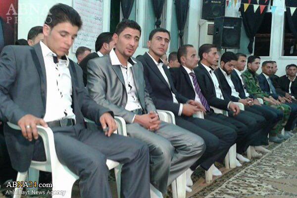 Photo of Mass wedding ceremony on Eid Al-Ghadir in Shiite district of Nubl & al-Zahraa