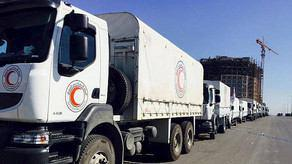 Photo of Humanitarian aid delivered to four besieged towns in Syria