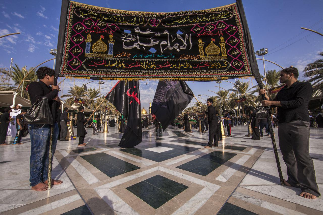Photo of Hundreds of Husseini processions surround Karbala's two holy shrines