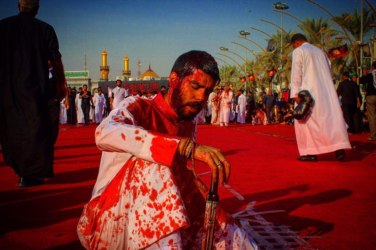 Photo of Ahl al-Bayt lovers prepare for self-flagellation rituals