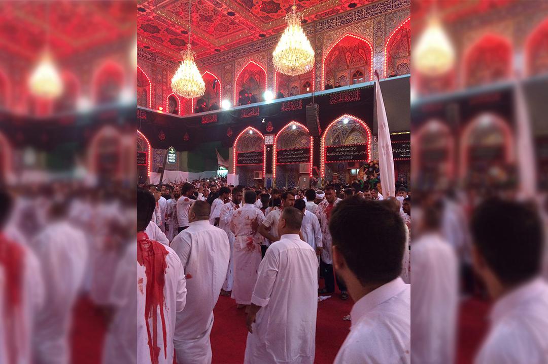 Photo of Self flagellation ritual in Holy Karbala