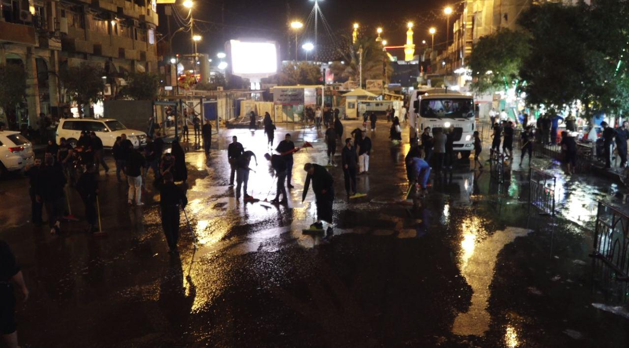 Photo of Ayatollah Shirazi's Public Relations Office organizes street cleaning campaign in holy Karbala